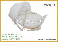 corn husk moses basket moses set with wooden stand