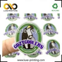 Custom design polyurethane label epoxy resin dome sticker / raised log