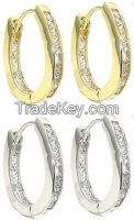 Oval Infinty Hoop Earrings