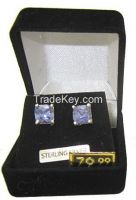 Three pair of Solitaire Stud earrings made with Austrian Elements Crystal Stones