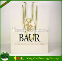 Luxury design shopping paper bags form china factory