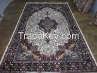 hand knotted viscose Rayon silk carpets