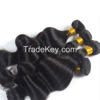 100% Unprocessed Virgin Remy Human Hair Extension Weft Weaving 100G Body Wave Natural Blck