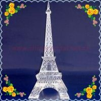 Free Shipping 230*70*70mm Clear Crystal Eiffel Tower For Table Decoration Safest Package with Reasonable Price