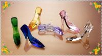 Free Shipping 130mm Beautiful Crystal Shoe For Female Gifts Safest Package with Reasonable Price