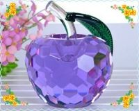 Free Shipping 60mm Fine Crystal Apple For Holiday Decoration Safest Package with Reasonable Price