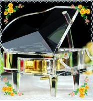 Free Shipping 13*14*10cm Customized Crystal Piano Music Box For Wedding Gifts Safest Package with Reasonable Price