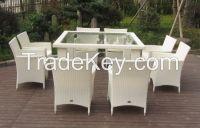 9pcs rattan dining set