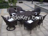 7pcs outdoor rattan dining set