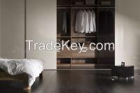 Modern Wooden Light Weight Sliding Door Moving Wardrobe