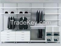 Walk In Aluminum Pole System Wardrobe