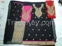 Indian unsticthed zari salwar suits