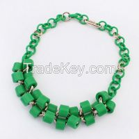 Wholesale handmade CCB necklace. NKE12159-C