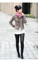 Korean version Women thin Faux leather Sexy leggings Treggings pants Trousers Factory price
