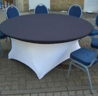 white spandex round table cover stretch restaurant  stretch table cover