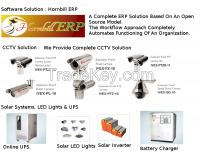 cable markers, stainless steel labels, cable ties, printers, ERP Software, Solar LED's, UPS, CCTV