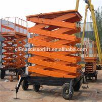 Mobile hydraulic scissor lifter platform