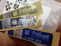 High Quality Color Label QR Code Stickers