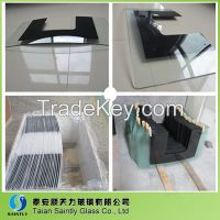 6mm high quality tempered decorative glass panel for range hood