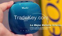 WALIO POWER BANK(Bater  a Externa) iPow 6000 Azul, 6000mAh, Cargador port  til universal para tel  fono m  vil smartphone y tablet. Alta capacidad. Indicadores LED. Linterna i