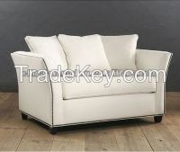 high quality white fabric hotel recliner sofa furnitue HDS1035