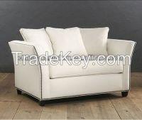 high quality white fabric hotel recliner sofa furnitue HDS1035