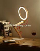 handmade wood desk lamps