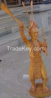 TRADITIONAL WOODEN STATUE