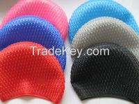 silicone swimming cap with