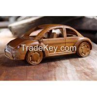 Teak Wood Bug Car