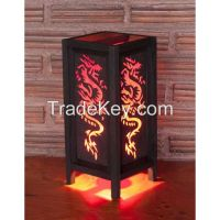 5x11 Red Tattoo Dragon Handmade Lamp