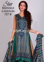 Star Krinkle Chiffon