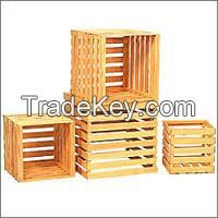 Shipping boxes wooden