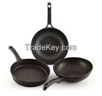Marble coated fry pan / wok pan
