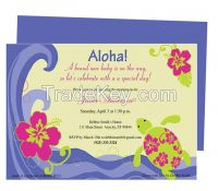 Aloha Baby Shower Invite Template