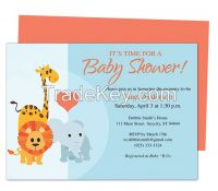 Animals Baby Shower Invite Template