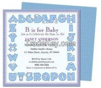Alphabet Shower Invitation Template