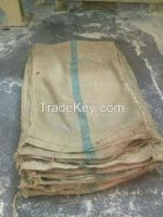 Used jute sacks