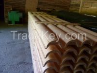 Wooden house pine siding