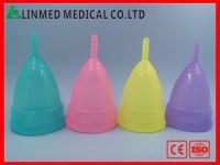 Reusable Colored Menstrual cup for women