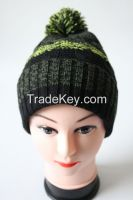 Fashion for Women Knitted Colorful Winter Hat with Pom Pom
