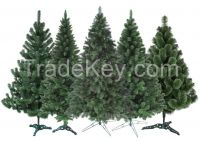 Christmas trees, pine trees, wreaths and garlands