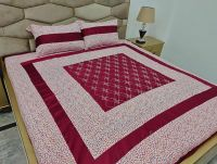 Cotton embroidered Bedsheets at wholesale price by Sofarahino