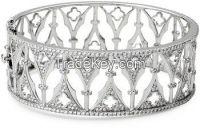 7.55 CTDiamond 14K Gold Cuff Bracelet