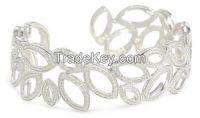 Diamond 14K Gold Certified Cuff Bracelet