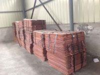 copper cathodes 99.96% min. purity