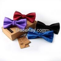 fashion 100% polyester bow tie