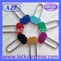 AJF new arrival popular aluminium colorful gift love heart shape lock