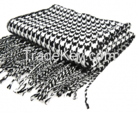 Woven Houndstooth Shawl Knitting Blanket Throw
