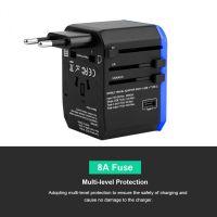 2000W Large Power International Plug Adapter US/AU/EU/UK Plug 4USB+Type C Safe World Travel Adapter